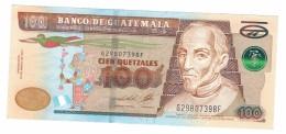 Guatemala 100 Qz. 2013, XF/AUNC. Free Ship. To USA. - Guatemala