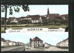 AK Mörsch, Totalansicht, Strassenpartie - Deutschland