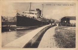 "CPA - DIEPPE - Le ""Rouen"" Entrant Au Bassin - Edit. Artaud N° 54 - Dieppe"
