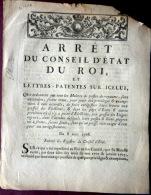 POSTE  COURRIER CORRESPONDANCE MALLE POSTE DILIGENCE ARRET PROTEGEANT LES MAITRES DE POSTES 1768 - Décrets & Lois
