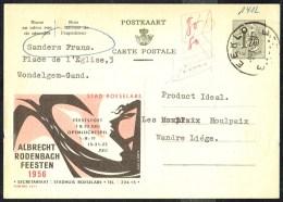 """CP Public. N° 1412  """"Albrecht RODENBACH Feesten 1956"""" - Circulé - Circulated - Gelaufen - 1956. - Publibels"""