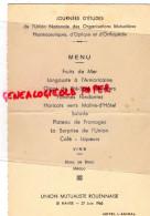 76 - LE HAVRE - MENU JOURNEES ETUDES UNION NALE PHARMACIES OPTICIENS ORTHOPEDISTES- PHARMACIE-ROUEN-1966 HOTEL AMIRAL - Menus