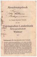 Sparbuch , Ida Calenius In Niederzimmern , 1914-1919 , Grammetal , Sparkasse , Bank !!! - Deutschland