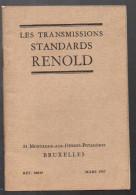 Catalogue RENOLD (transmissions, Bruxelles, 1937) (PPP3269) - Belgium