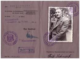 Führerschein , Fritz Lehnert In Langenbielau / Peterswaldau 1934 , Reichenbach I. Eulengebirge , Pieszyce , Bielawa !!! - Schlesien