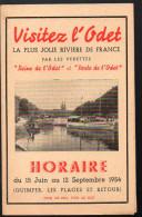 Dépliant VISITEZ L´ODET  1954 (Finistère) (PPP3271) - Dépliants Touristiques