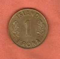 Iceland 1 Krona 1970 - Island