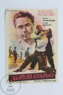 Original Old Cinema/ Movie Advertising Image -  Movie: Salvatore Giuliano, Actors:  Frank Wolff, Salvo Randone - Cinema Advertisement