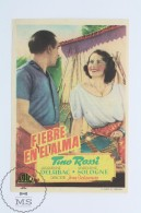 Original Old Cinema/ Movie Advertising Image - Movie: Fièvres, Actors:  Tino Rossi, Jacqueline Delubac - Publicité Cinématographique