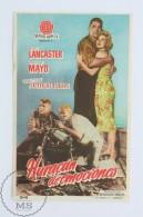 Original Old Cinema/ Movie Advertising Image - Movie: South Sea Woman, Actors: Burt Lancaster, Virginia Mayo - Publicidad