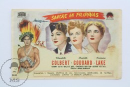 Old Cinema/ Movie Advtg Image - Movie: So Proudly We Hail!, Actors: Claudette Colbert, Paulette Goddard, Veronica Lake - Publicidad