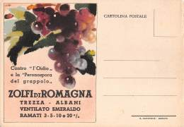 """05709 """"ZOLFI DI ROMAGNA - TREZZA ALBANI"""" CARTOLINA COMM. INTESTATA, NON SPEDITA - Commercio"""