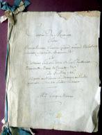 61 MORTAGNE GENEALOGIE 1786 PROJET DE CONTRAT DE MARIAGE ENTRE ARMAND DE LA PORTE ET MLLE COTTIN - Historische Dokumente