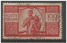 100 Lire Democratica Specializzato I° Lastra Grigia D.14x14e1/4 Filigrana NORMALE SINISTRA - 1946-60: Usati