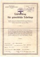 Vertrag , ADE - Werk In Waltershausen , 1937 , Harri Herrmann In Hörselgau / Hörsel , Traktor , Agrar !!! - Waltershausen