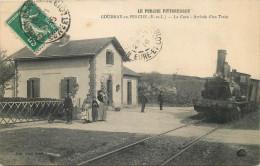 28 - EURE Et LOIR - Coudray Au Perche - Gare - Chemin De Fer - Train - Francia