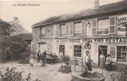 CPA LA ROCHE VILLEBON 91 - Au Sabot Rouge Restaurant Barreau - Other Municipalities