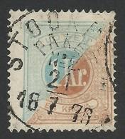 Sweden, 1 K. 1874, Sc # J11, Mi # 10A, Used - Postage Due