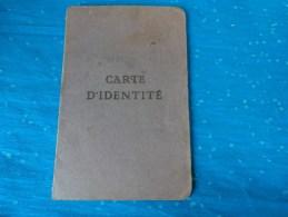 Carte D'identite De 1942  Marsac Dans La Creuse Timbre Fiscal - Cartes
