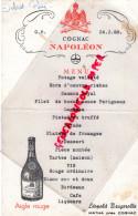 16 - MATHA PRES COGNAC - MENU COGNAC NAPOLEON AIGLE ROUGE- LEOPOLD BRUGEROLLE -1968 - Menus