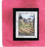 ITALIA REPUBBLICA ITALY REPUBLIC 1979 ARTE ITALIANA ITALIAN ART ARDENGO SOFFICI LIRE 520 USATO USED OBLITERE´ - 1971-80: Gebraucht