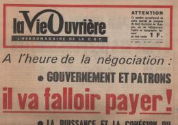 LA VIE OUVRIERE 29/05 1968il Va Falloir Payer Hbdomadaire De La CGT N°1239 - Journaux - Quotidiens