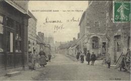 SAINT-GONDON -la Rue De L´Eglise -ed. Morier - Autres Communes