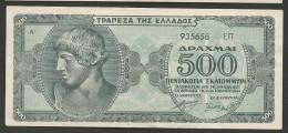 Drachmae  500 Million/1.10.1944 UNC!! - Greece