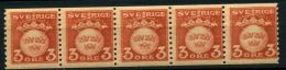 SUEDE ( POSTE ) : Y&T N° 122 X 5  TIMBRES  NEUFS  SANS  TRACE  DE  CHARNIERE , A  VOIR  . - Unused Stamps