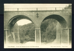 LUXEMBOURG  -  Trois-Ponts  Unused Vintage Postcard - Luxemburg - Town