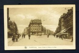 LUXEMBOURG  -  Avenue Adolphe Et Avenue De La Gare  Unused Vintage Postcard - Luxemburg - Town