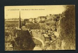 LUXEMBOURG  -  Ville-Haut Et Ville-Basse  Du Grund  Used Vintage Postcard - Luxemburg - Town