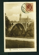 LUXEMBOURG  -  Pont Adolphe Et Caisse D'Epargne  Used Vintage Postcard - Luxemburg - Town