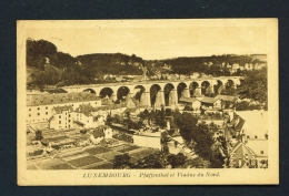 LUXEMBOURG  -  Pfaffenthal Et Viaduc Du Nord  Used Vintage Postcard - Luxemburg - Town