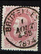 34  Obl  Concours  BXL - 1869-1883 Léopold II