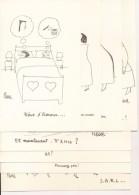 Lot De 8 Buvards Illustrés Par PIEM Pour MUSTELA Et BALLOTYL Humour Caricature Satire Produit Pharmaceutique - Produits Pharmaceutiques