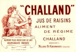 BU 1415 /   BUVARD - CHALLAND  JUS DE RAISINS ALIMENT DE REGIME   NEGOCIANT  A NUITS-ST GEORGES - Limonades