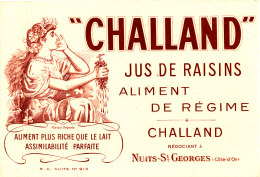 BU 1415 /   BUVARD - CHALLAND  JUS DE RAISINS ALIMENT DE REGIME   NEGOCIANT  A NUITS-ST GEORGES - Softdrinks