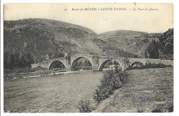 Cp, 48, Route De Mende à Sainte Enimie, Le Pont De Quezac - France