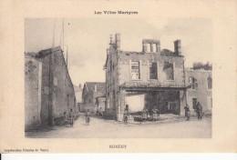 Cp , MILITARIA , La Grande Guerre De 1914-15  , Les Villes Martyrs , NOMÉNY - Guerre 1914-18