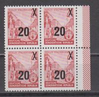 DDR  1954 Mich.Nr.439 BXI VIERERBLOCK  ** Geprüft Schönherr BPP - [6] République Démocratique