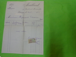 Facture Maillard Limoges Robe Manteau Timbre Fiscal 1923- - Factures & Documents Commerciaux
