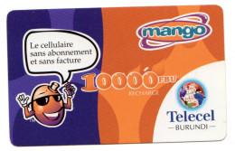 BURUNDI RECHARGE GSM MANGO TELECEL 10 000 FBU