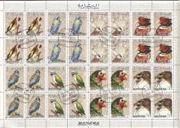 Manama 1972 Mi# 1040-1047 A Used - Se-tenant Sheet - Birds - Oiseaux