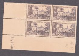 FRANCE 1940 COIN DATE N°451 OUVERT SUR LA DENTELURE VOIR SCAN / 6846 - Ecken (Datum)