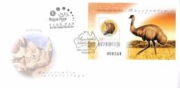 A011501-   FDC J0 Hongrie Bloc Animaux D'Australie 9-5-2000 Budapest 4 - FDC