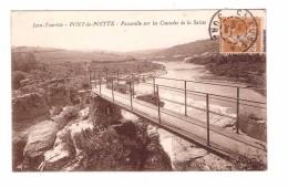 39 Pont De Poitte Passerelle Sur Les Cascades De La Saisse Jura Touriste - Altri Comuni