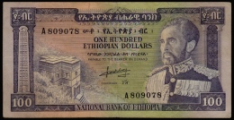 Ethiopia 100 Dollars 1966 F - Ethiopia