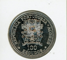 10 IEME ANNIVERSAIRE DE L'AUTONOMIE REGIONALE DES ACORES - 100 ESCUDOS REF 45  - COTE IPCcoins: 9€ - Açores