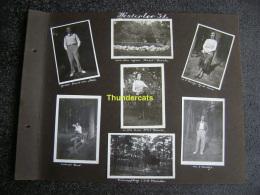 LOT VAN 7 OUDE FOTO'S PHOTO 1931 WESTERLO WESTERLOO  GROT HOTEL GEERTS BOSCHJE - Lieux